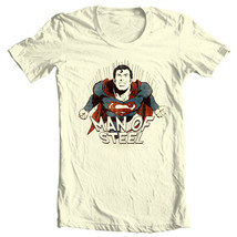 Man of Steel Superman T-shirt Classic Golden Age DC comics graphic tee SM1932 image 2