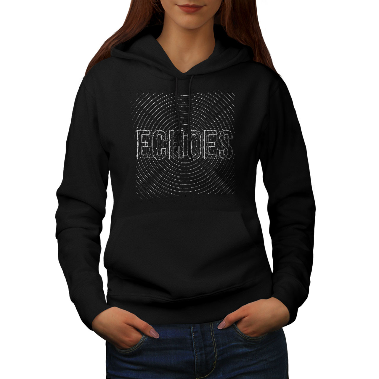 Primary image for Echoes Saying Text Slogan Sweatshirt Hoody Crazy Tour Women Hoodie