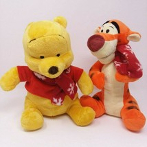 Winnie the Pooh & Tigger Plush Set with Chrismas Snowflake Scarf 2011 - $24.95
