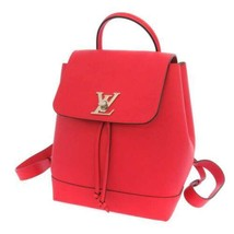 LOUIS VUITTON Lockme Backpack Calf Leather Ruby M41814 Silver Hardware F... - $2,224.30