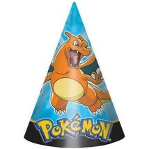 Pokemon Pikachu and Friends Party Favor Cone Hats 8 Count Birthday Supplies - $4.70
