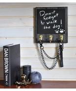Handmade Wooden Message Board, Coat Rack and Key Holder, Dog Leash Holde... - $25.49