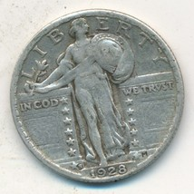 1928-S STANDING LIBERTY SILVER QUARTER-VERY NICE CIRCULATED COIN-FREE S/... - $27.95