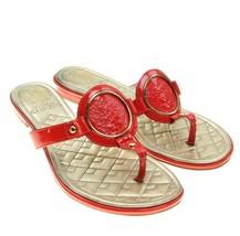 VINCE CAMUTO Braida Womens Red Patent Leather Signature Logo Thong Sanda... - $16.82