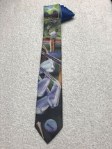 Golf On The Course High Flite Ball Clubs Ralph Marlin 1993 Vintage Tie Necktie - $15.83