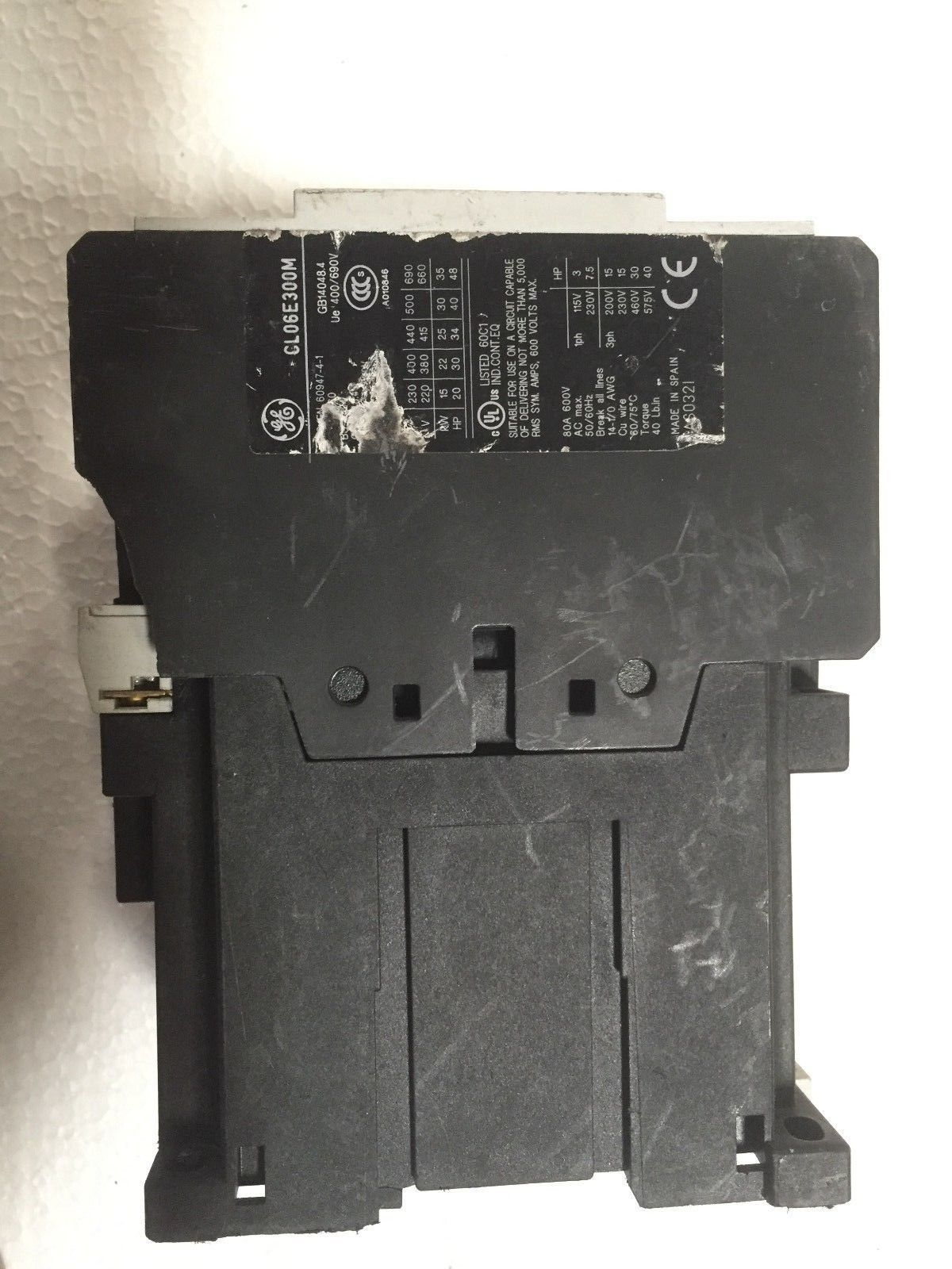 Ge Contactor Wiring 460v 3 Phase Diagram Posts To 230v Library Transformer G E Cl06e300m