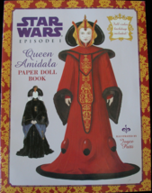 Star Wars Queen Amidala Paperdoll Book Naboo Episode 1 New Uncut 1999 Pa... - $14.99