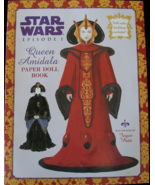 Star Wars Queen Amidala Paperdoll Book Naboo Episode 1 New Uncut 1999 Pa... - $14.99