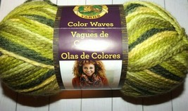 Lion Brand Color Waves #205 Green Apple 3.5 oz 100 g 306 yd Acrylic Wool #3  - $7.82