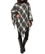NEW WOMEN'S RALPH LAUREN BLACK IVORY PANCHO MOT... - $68.55