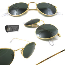 Neu Ray Ban Runde Metall RB3447 001 Gold mit / G-15 50mm - $156.75