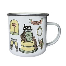 Wedding Elements New Funny Novelty Retro,Tin, Enamel 10oz Mug g391e - $13.13