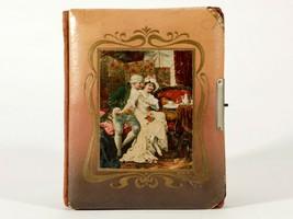 FREE SHIP: Antique Vintage Celluloid Photo Album - Charming Courting Couple - $32.73