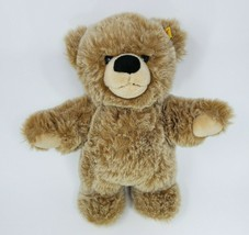 "12"" STEIFF BOBBY BROWN & TAN TEDDY BEAR STUFFED ANIMAL PLUSH TOY GOLD # ... - $64.52"