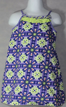 Girls BOUTIQUE HANNA ANDERSSON PURPLE GREEN FLORAL Sleeveless SUMMER DRE... - $20.78