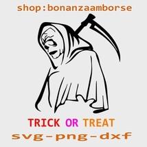 Trick or treat svg, Grim reaper svg, halloween Svg Png Dxf Digital files  - $1.99