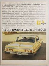 1963 Print Ad The 1964 Chevrolet Impala 4-Door Sport Sedan Chevy - $16.81