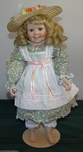 Elke Hutchens Porcelain Doll Heather from Danbury Mint 1991 Summer in Country - $36.27