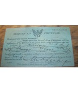 1918 WWI GI SOLDIER DRAFT REGISTRATION CARD HERKIMER COUNTY LITTLE FALLS NY - $9.89