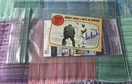 Lou Brock 1968 Topps Autographed Card Cardinals JSA - $28.49