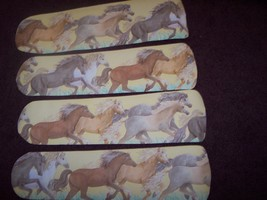 Custom~ ~ ~ Yellow Majestic Horse Horses Pony Ceiling Fan With Light - $99.99