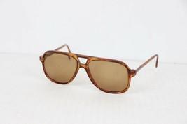 Vintage 80s Harding Amber Tortoise Arthur Miller Acetate Sunglasses RX L... - $195.97