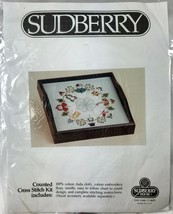 Sudberry Snowman Cross Stitch Square Tray Insert Kit Snow People in Circ... - $19.34