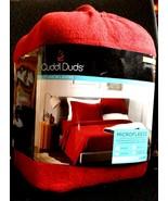$120 Cuddl Duds MicroFleece Sheet Set Dark Red KING Super Cozy Soft Flee... - $69.27