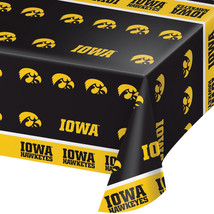 "Univ of Iowa All Over Print 54"" x 108"" Inch Plastic Tablecover/Case of 12 - $57.94"