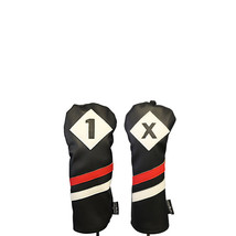 Majek Retro Golf 1 X Driver Fairway Wood Headcover Black Red White Leath... - $21.59