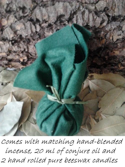 Green mojo bag