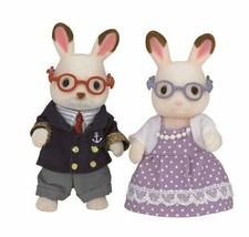 Sylvanian Families Chocolate Rabbit doll grandfather, grandmother - $24.06