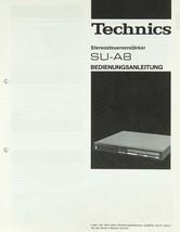 Technics SU-A8 Bedienungsanleitung Stereosteuerverstarker - $17.00