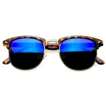 Premium Half Frame Horn Rimmed Sunglasses Metal Rivets Sun Glasses Eyewear - $6.27+