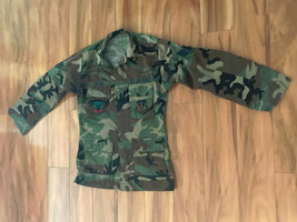 Us Air force 110 Fighter Wing Air Combat Command Camo Jacket Mens Small Long - $34.65