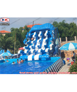 Inflatable water wave slide For Mobile Stainless Steel Metal Frame Pool - $3,950.00