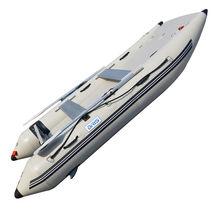 BRIS 11 ft Inflatable Catamaran Inflatable Boat Dinghy Mini Cat Boat Gray image 7