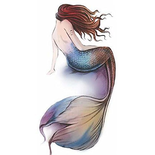 Mermaid Tattoo Stickers Individual Styles Temporary Tattoos Tattoo Design Women