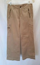 "NWT Express Sz 0 (30"" W x 33"" inseam) Tan Cargo Pants Zip/ Flap Pockets ... - $16.44"