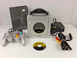 Nintendo GameCube Console Black + Mario Party 4 Game + 2 Controllers + C... - $99.00