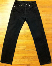 Mens Gently Used Classic Black 501 Levis SZ 30 x 32 - $25.00