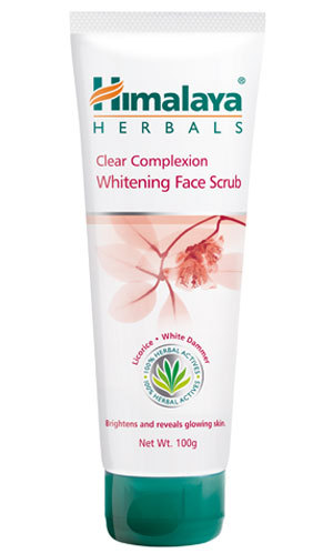 Himalaya Clear Complexion Whitening Face Scrub 100g fairness enhancing property