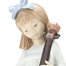 Nao by Lladro 02001879 GIRL WITH CELLO Porcelain Figurine Glased New  - $108.90