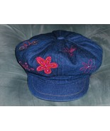 Barbie Newsboy Blue Jean Hat  Childs Cap - $14.00