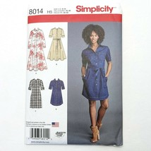 Simplicity 8014 Sewing Pattern Shirt Dress Sizes 6-14 Length Variations ... - $12.19