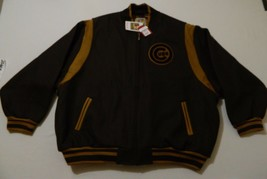 M151 $450 MITCHELL & NESS Chicago Cubs Sewn Brown Wool Reversible Jacket... - $247.49