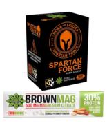 Protein Bar Peanut Magnesium + Spartan Force L-Leucine L-Valine L-Isoleu... - $43.65