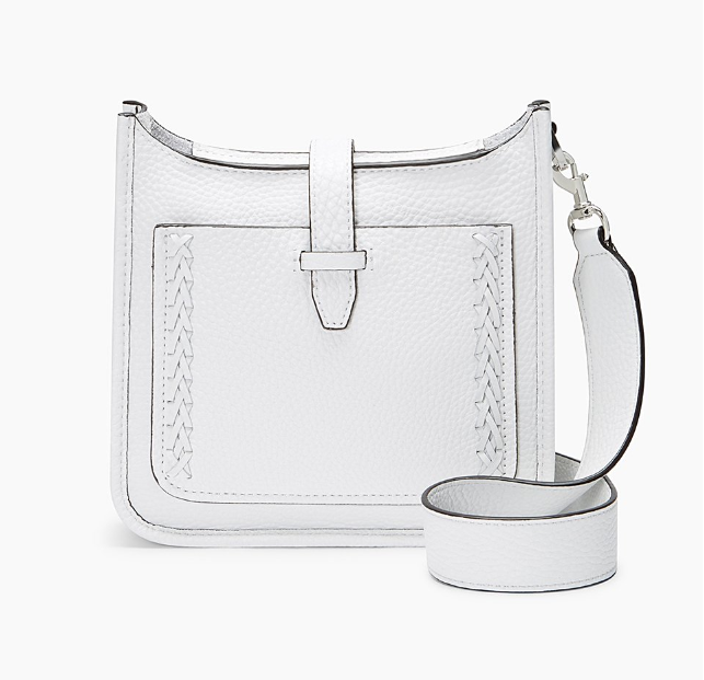 Primary image for Rebecca Minkoff Mini Unlined Feed Bag Whipstitch, Optic White (HSP7EUWE01)