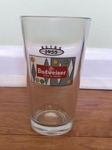 Budweiser 1955 Retro Logo Pint Beer Drinking Glass - $6.90