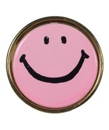 Genuine Vintage 1970's Have A Nice Day Smiley Face Pin in Neon Pink  - $18.66